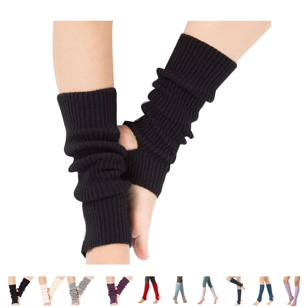 1 Pair Woman Latin Socks Fitness Dancing Female Daily Wear Exercising Warm Long Section Knitting Walking Socks