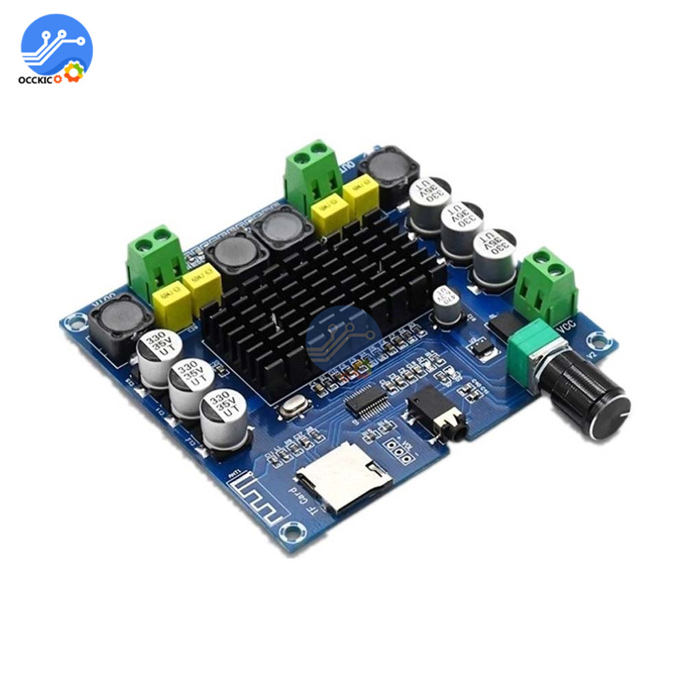 XH-A104 Bluetooth 4.1 Digital Amplifier Board Dual Channel TPA3116 2x50W DC12-24V Stereo Audio AMP Support TF AUX 2*50W