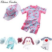 Maiô da menina do bebê terno de banho da criança flamingo sol proteção uv crianças terno de natação da criança roupa da piscina das meninas dos miúdos