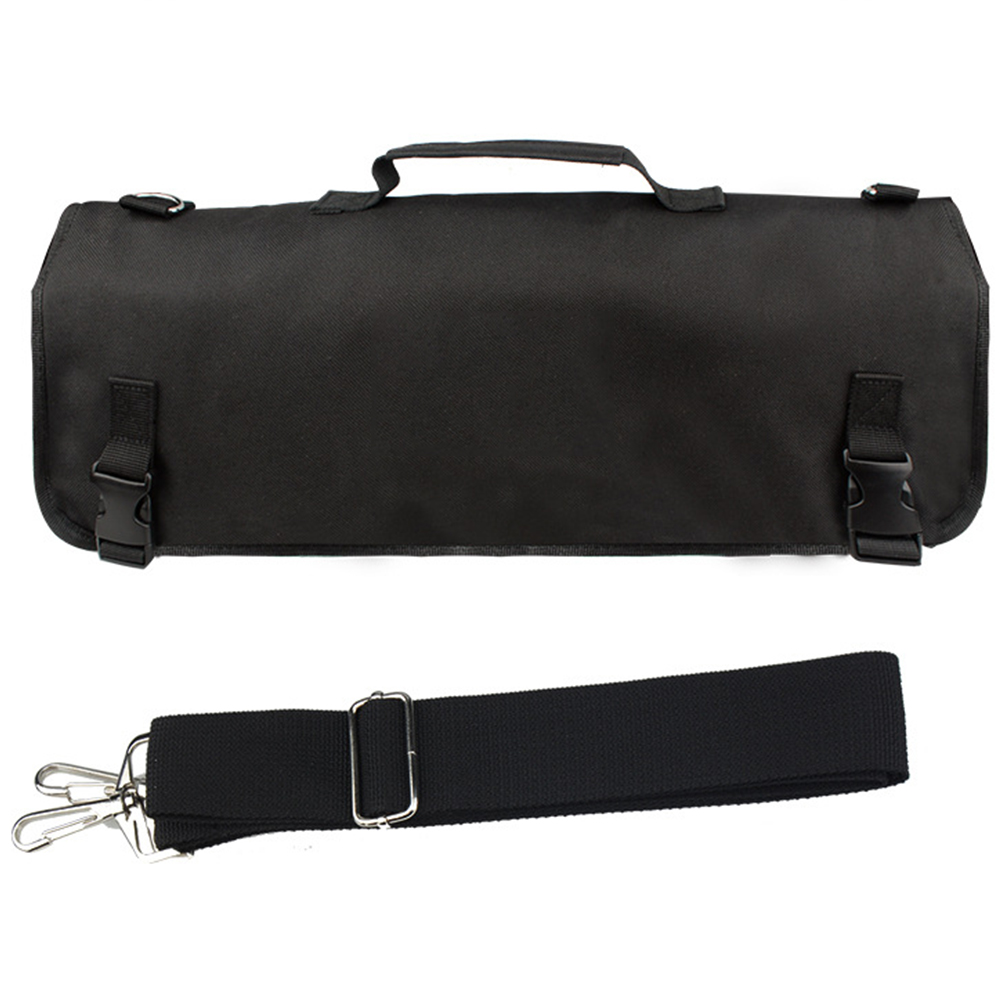 Chef Knife Bag Strap Pack Roll 8 Pocket Slots Oxford Cloth Multifunctional Storage Cooking Professional Portable Accessories