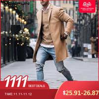 Elegantes chaquetas clásicas elegantes chaquetas largas para Hombre Abrigos gabardina ajustada prendas de vestir Abrigo de invierno para Hombre