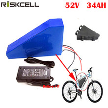 New arriver triangle battery pack lithium battery 52v 34ah electric bike battery(China)
