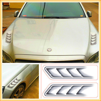3D Shark Gills Car Stickers Vent Air Flow Fender FOR Nissan NV200 Nuvu NV2500 Forum Denki 350Z Zaroot March Murano TIIDA image
