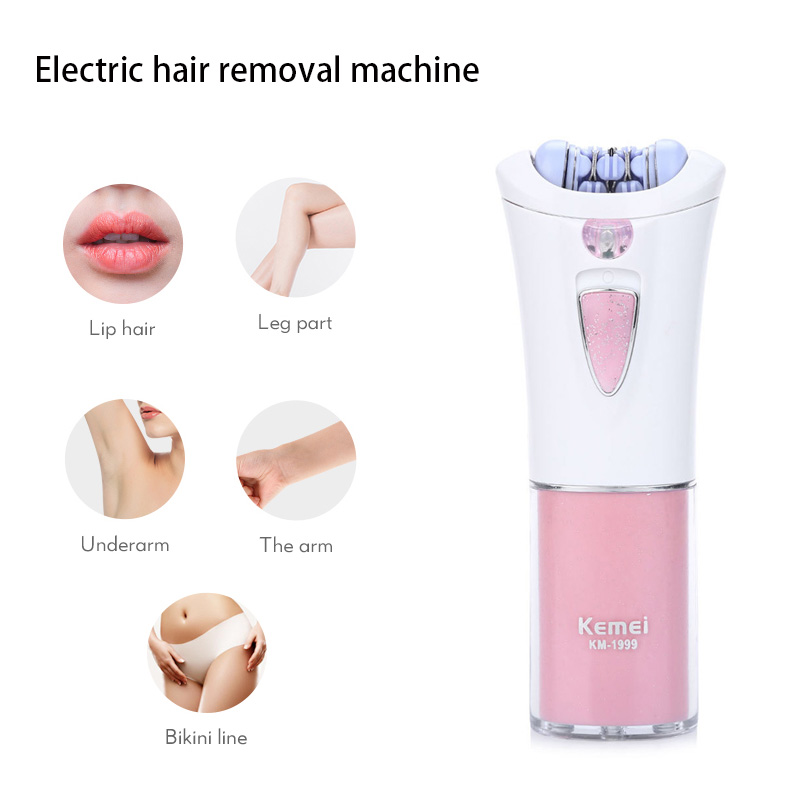 KEMEI Electric Epilator Women Shaver Razor Cordless Epilator Arm Leg Armpit Body Hair Remover Trimmer For Face Body F30