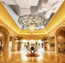 Custom 3D Photo Wallpaper ceilings three-dimensional ceiling wallpaper mural decorative painting