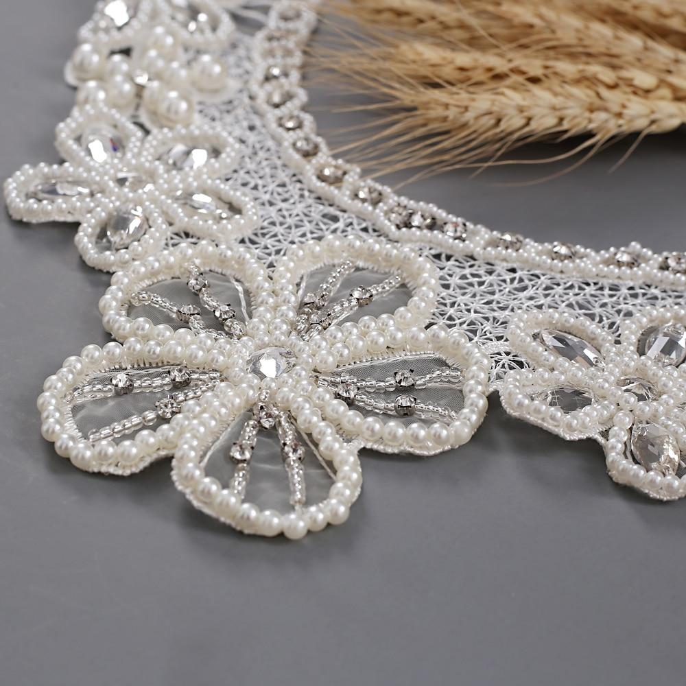 TRiXY G06 Flora Wedding Shawl Pearls Bling Beaded Jacket Bolero Wrap Bridal Wedding Wrap Evening Prom Elegant Women Accessories