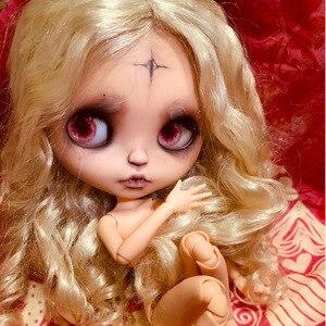 Ледяная 19 шарнирная кукла blyth с макияж лица нормальная кожа с карамельными волосами Девушка подарок Готический стиль макияж кукла с OB24 тела