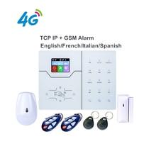 4G Englisch Französisch Text Menü Voice Alarm RJ45 TCP IP Alarm 4G GSM Smart Home Security Alarm System steuerung durch WebIE und App