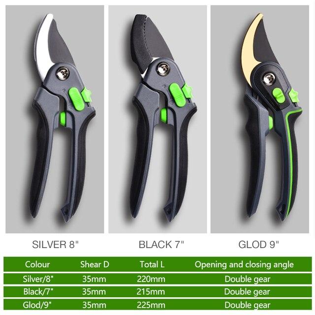 AI-ROAD With Lock Garden Prunch Shear Branch Pruner Scissor Fruit Cutter Sharp Tree Grafting Trimmer Home Hand Tool 6