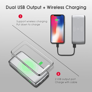 Image 3 - WST 10000mAh Wireless Charger Power Bank PD3.0 18W Quick Charge Powerbank With Type C Portable Wireless Battery Charger