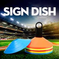 Novo 10 pçs sinal de treinamento de futebol pressão plana resistente cones marcador discos barreira acessórios xd88