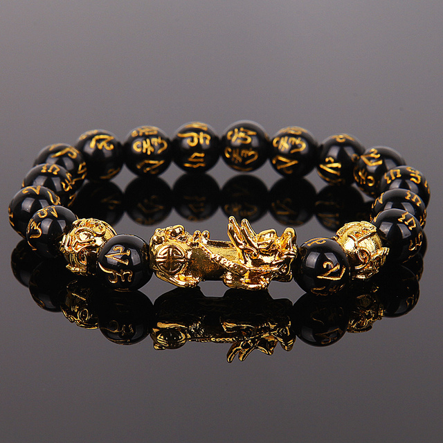 Pixiu-pulsera de guardián de la suerte para hombres y mujeres, pulseras de hilo de cuentas de la riqueza, Fengshui chino, Unisex 6