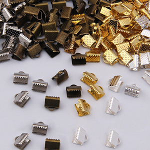 100pcs Cord End Fastener Clasps Crimp End Beads Buckle Tips Clasps for Jewelry Making Findings DIY Necklace Bracelet Connectors
