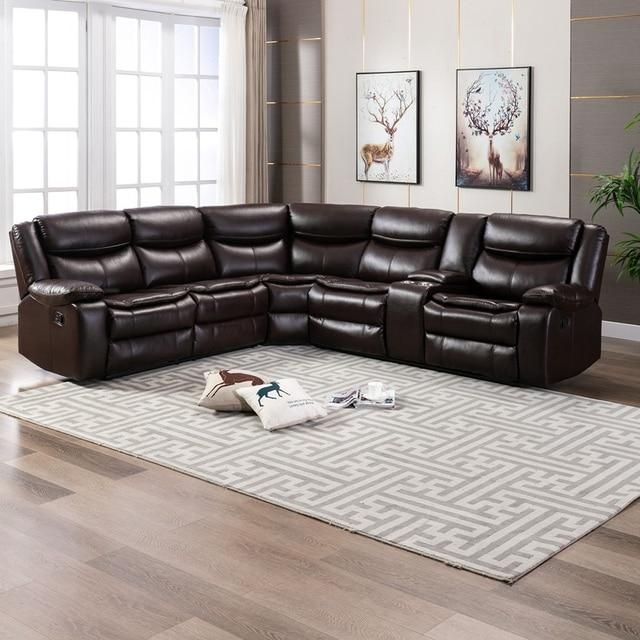 Manual Reclining Sectional Sofa Set  4