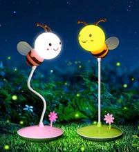 Ночник с usb зарядкой сенсорный мультяшный ночник милой Пчелой