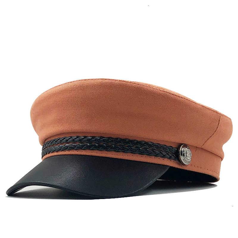 Nieuwe Hoge Kwaliteit Casual Militaire Cap Man Vrouw Katoenen Baret Platte Hoeden Captain Cap Trucker Vintage Zwart Sport Vader Bone mannelijke