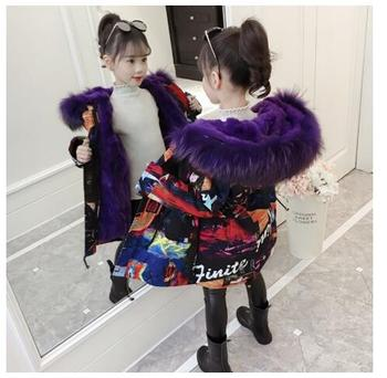 2019 new girls clothes down to -30 degrees winter jackets warm thick with faux fur hooded jackets for teenagers leather coats