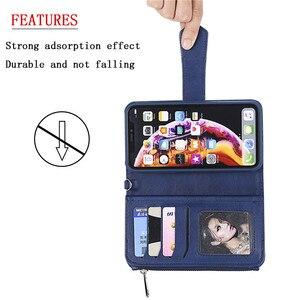 Image 4 - Magnetische Leather Case Voor Iphone Xr Xs 12 11 Pro Max X Se 2020 8 7 6 6S Plus 5 Wallet Card Cover Voor Samsung S20 S10 S9 S8 Gevallen