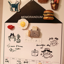Nordic Magnetic Whiteboard Fridge Magnets Presentation Creative  Boards Home Kitchen Message Writing Sticker Drawing Toys