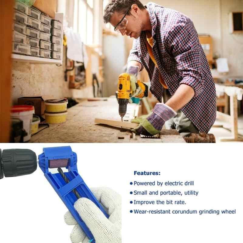 Afilador de brocas para taladro corindón portátil de 2-12,5mm para herramientas de molino para afilador de brocas para taladro herramienta eléctrica