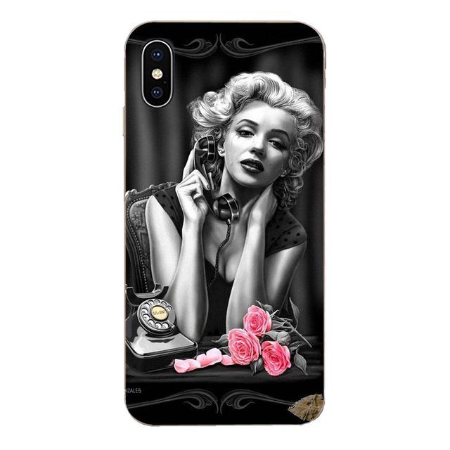 Coque de téléphone souple Sexy Superstar Marilyn Monroe pour Samsung Galaxy Note 5 8 9 S3 S4 S5 S6 S7 S8 S9 S10 5G mini bord Plus Lite