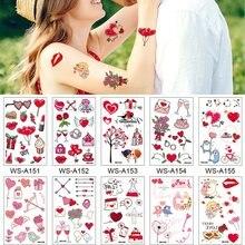 10 tipos do amor doce tatuagens descartáveis festa de aniversário de casamento temporária corpo braço adesivos maquiagem à prova dwaterproof água corretivo adesivo