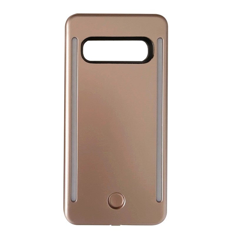 Anti-Fall 3 Generation <font><b>Led</b></font> Self-Timer Flash Perfect Fill Light Protective Cover Mobile Phone <font><b>Case</b></font> For <font><b>Samsung</b></font> <font><b>S10</b></font>,Rose Gold image