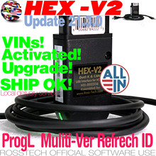 Акция новый реальный Refrech HEX V2 интерфейс для VAGCOM VAG COM VW-AUDi Профессиональный сброс кода сканирования 1996-2021 оборудование для обновления
