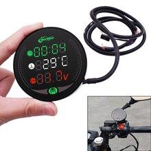 For Suzuki GSX250 GSX550 GSX1250 GSX1400 GSX650 Motorcycle Multi Function LED Digital Voltmeter Clock Meter Thermometer 3in1