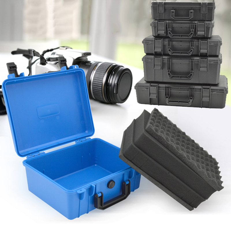 Impact Resistant Safety Case Protective Tool Box Equipment Suitcase Instrument Plastic Tool Case Shockproof With Sponge