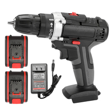 36V Electric Impact Cordless Drill Electric Screwdriver Wireless Rechargeable Lithium Battery Hand Drills Electric Power Tools