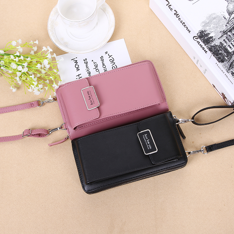 2019 Forever Baellerry Women Wallet Vertical Crossbody Mobile Phone Wallet Zipper Clutch Wallet