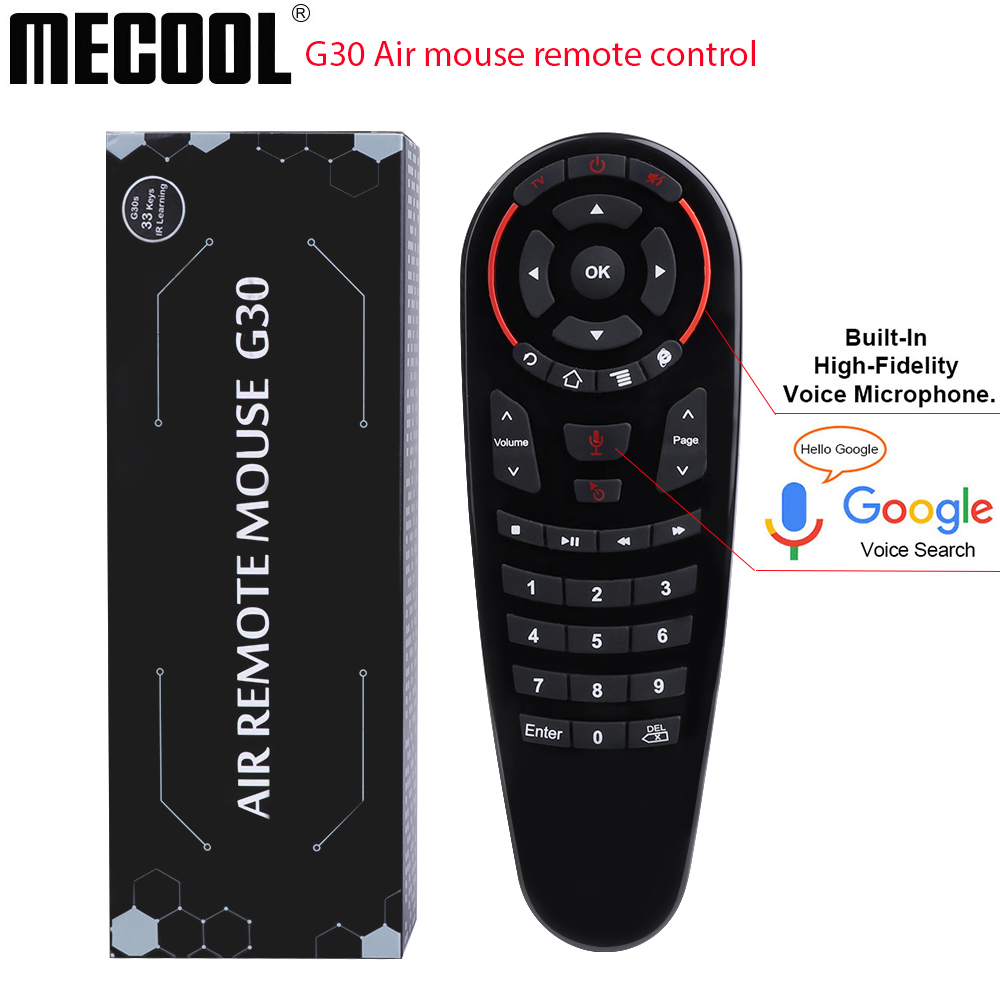 Mecool New G30 air mouse smart remote control 2.4g Wireless Mini Kyeboard IR learning Gyro Sensing  33 keys Game andriod tv box 1111