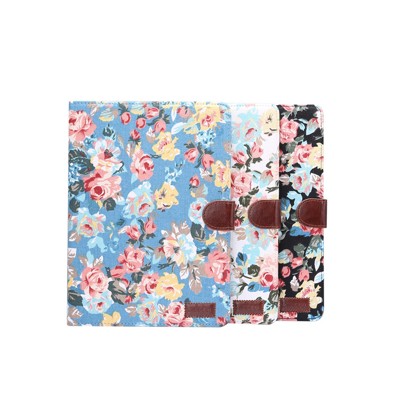 For Cover A2200 A2198 For iPad Funda 7th Skin 10.2 Apple Case Stand Shell Smart Flowers Generation A2232 iPad 2019 Painted