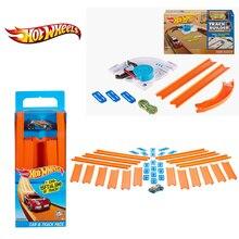 Hot Wheels трек игрушка строитель прямой с литой автомобиль соединиться с другими hotwheels трек Brinquedo pista BHT77For Gif