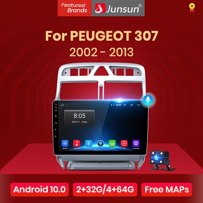 Junsun V1 pro 2G + 32G Android 10 pour PEUGEOT 307 sw 307 2002 - 2013 autoradio multimédia lecteur vidéo Navigation GPS 2 din dvd