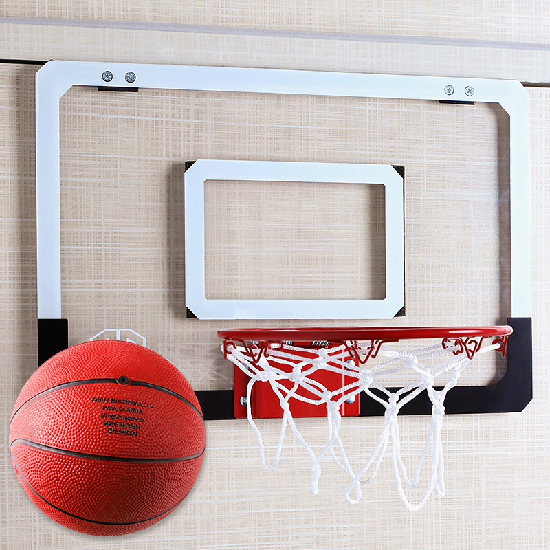 Basketball Hoop Hole Punched Children Hanging Indoor Adult Dunk Small Basket Household-Dormitory Wall Hanging Basketball Stand