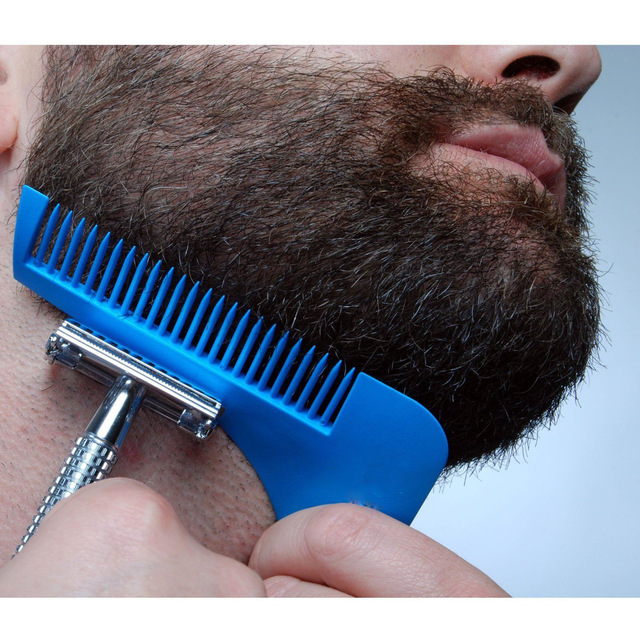 1 Pc Men's Beard Care Appearance Moustache Moulding Hairdressing Plastic Hair Shaping Styling Template Ruler Combs Tool