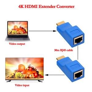 Image 3 - 1 زوج من موسّع HDMI HDMI بجودة 4K HDMI 1.4 30 متر من Bundwin مع محول شبكة إيثرنت RJ45 على مدى Cat 5e/6 لـ HDTV HDPC