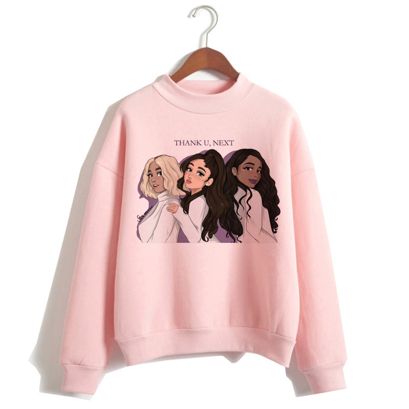 Ariana Grande Hoodie 7 Rings Women Kawaii Graphic Harajuku Sweatshirt Thank U Next Pullover Female Clothes Hood Polyester