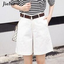 Spring Fashion Summer New Casual Shorts Women Leisure Loose Wide Leg Pantalon Femme Belt Office Lady Female Pure Color XL