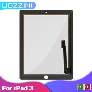 Para ipad 3 9.7 a1416 a1430 a1403 sensor de digitador da tela toque painel vidro tablet substituição para ipad 3 tela sem botão