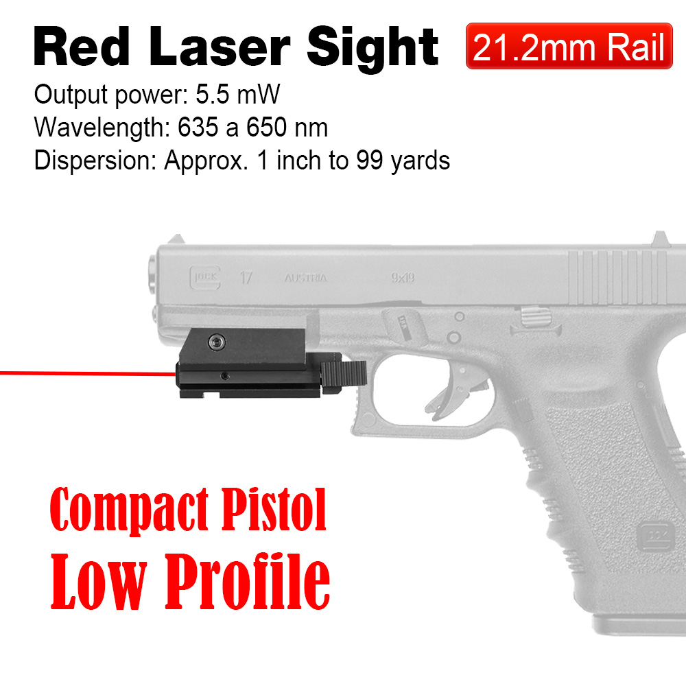 PPT Red Laser Sight Pistol Red Laser Sight 21.2mm Mounting Red Laser Pointer for G17 1911 M92 air gun Accessories OS20-0015