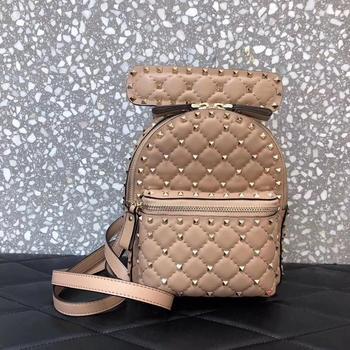 Ladies Backpack, Sheepskin Ladies Backpack, Luxury Leather Mini Backpack, Laptop School Backpack, Ladies Studded Backpack 2020