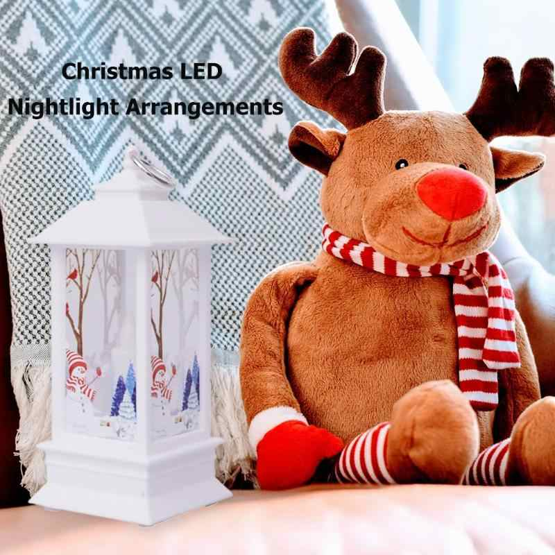 Dekorasi Natal Angin Lampu LED Malam Lampu Lilin Ornamen Meja Liontin Taman Decorets