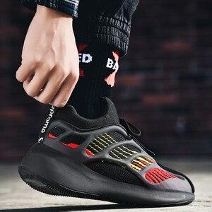 Image 1 - ชายน้ำหนักเบารองเท้าวิ่งรองเท้ากันกระแทกBreathableชายรองเท้าสบายๆเพิ่มขึ้นเดินรองเท้าZapatillas mujer