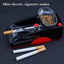 1pc plugue da ue elétrica fácil automático cigarro máquina de rolamento fabricante injector tabaco rolo transporte da gota ferramenta fumar