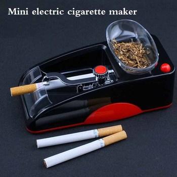 1pc ue wtyczka elektryczna łatwa automatyczna maszyna do zwijania papierosów nabijarka do tytoniu Maker Roller Drop Shipping narzędzie do palenia tanie i dobre opinie CN (pochodzenie) Metal Matowe Automatic Cigarette Rolling Machine