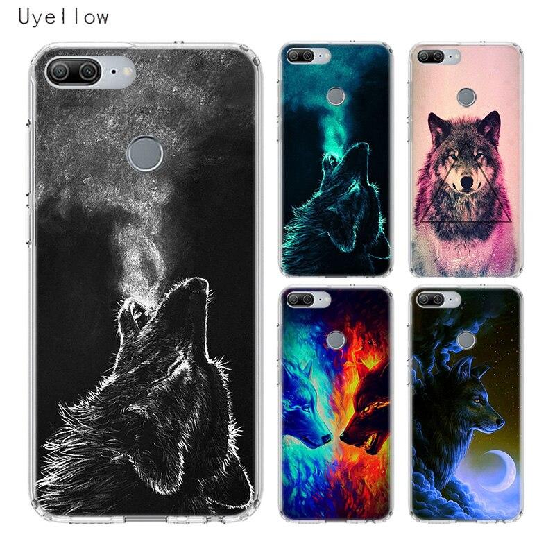 Uyellow Starry Animal Wolf Soft Luxury Phone Case For Huawei Honor 8A 8X 8C 8S 9 9X 10 20 lite Pro Play 20i V20 Cover