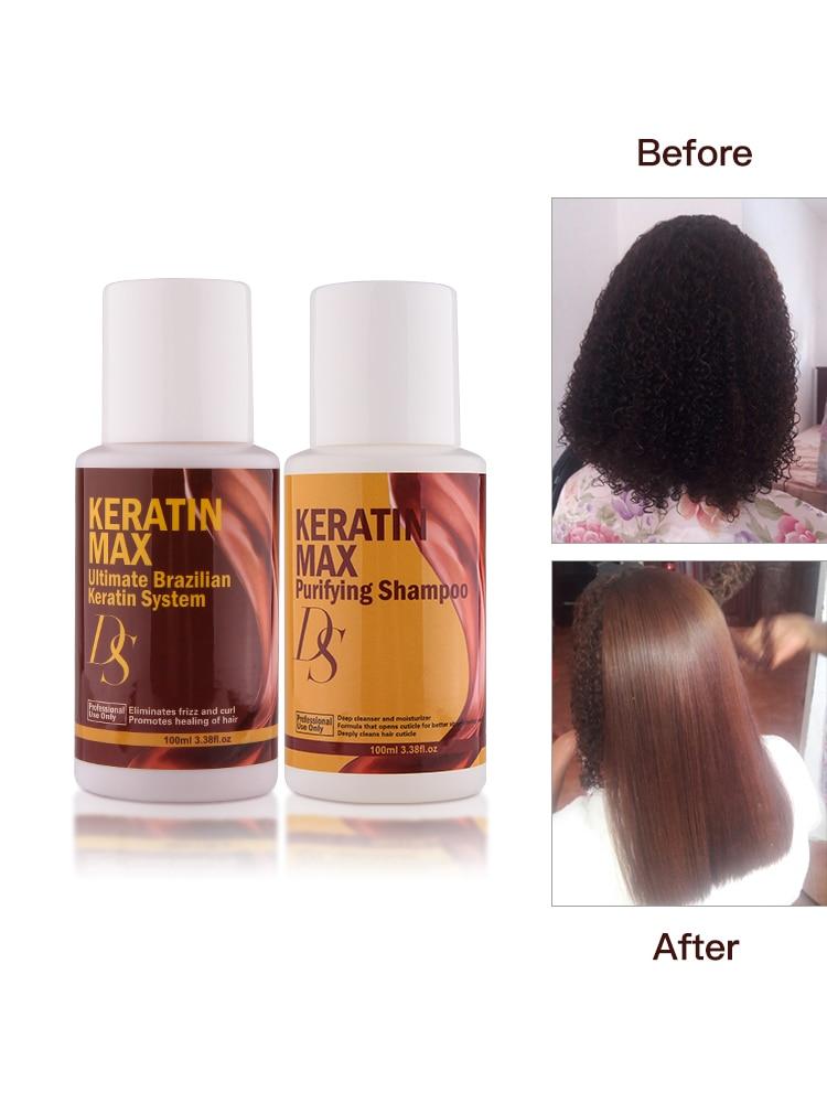 Chocolates 100ml Brazilian Keratin Treatment 8% Formaldehyde Straightening Resistant Hair+100ml Purifying Shampoo